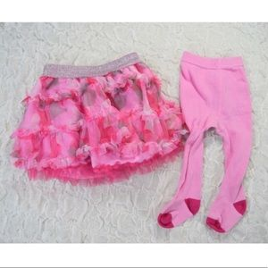 Baby girl pink tutu and tights
